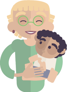 illustration d'une femme et son bébé